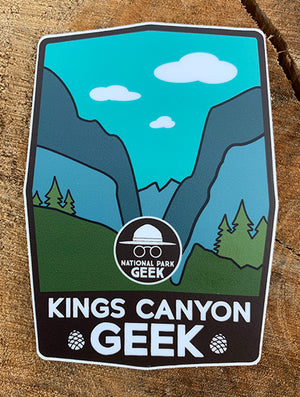 Kings Canyon NP  Sticker (includes shipping)