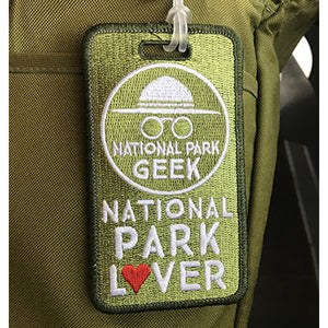 Luggage Tag - National Park Geek (includes US shipping)