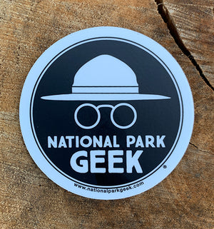 National Park Geek Logo Black Sticker (includes shipping)