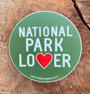 National Park Lover Sticker (includes shipping)