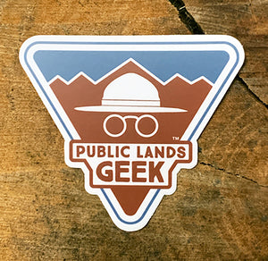 Public Lands Geek Sticker (includes shipping)