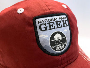 National Park Geek Crimson Hat