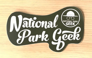 Script National Park Geek Sticker (includes shipping)