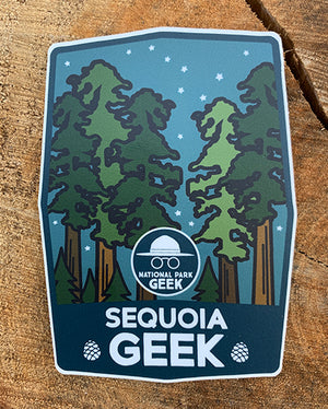 Sequoia Geek Nighttime Sticker (includes shipping)