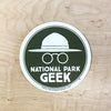 National Park Geek Logo Green Sticker (includes shipping)