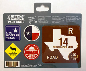 Texas Roadsigns Sticker (includes shipping)