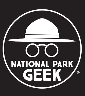National Park Geek Logo Vinyl Window Decal (includes shipping)