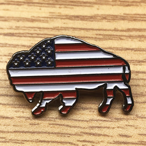 Bison Pin (includes US shipping)