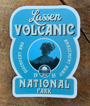 Lassen Volcanic National Park Sticker (includes shipping)