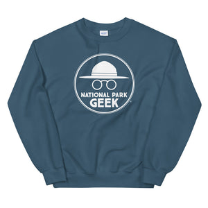 National Park Geek Unisex Sweatshirt White Logo