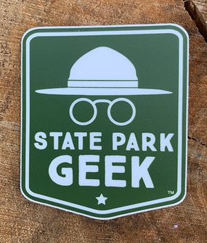 State Park Geek Sticker (includes shipping)