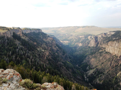 View of Deep Creek from the Flat Tops in Colorado