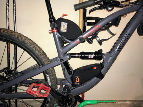 Guerrilla Gravity Top tube and NUTS Sack Bags