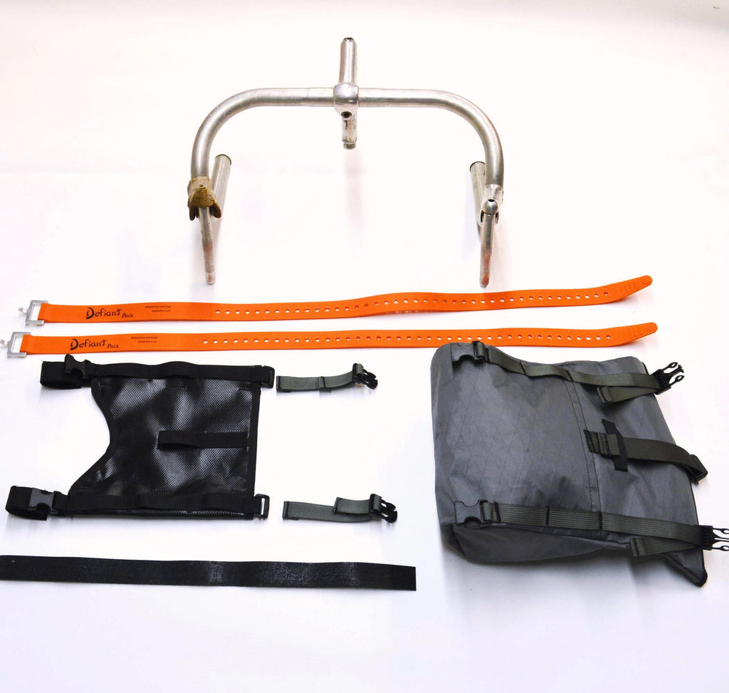 All components of the of McClure Front Harness and bag kit shown separately