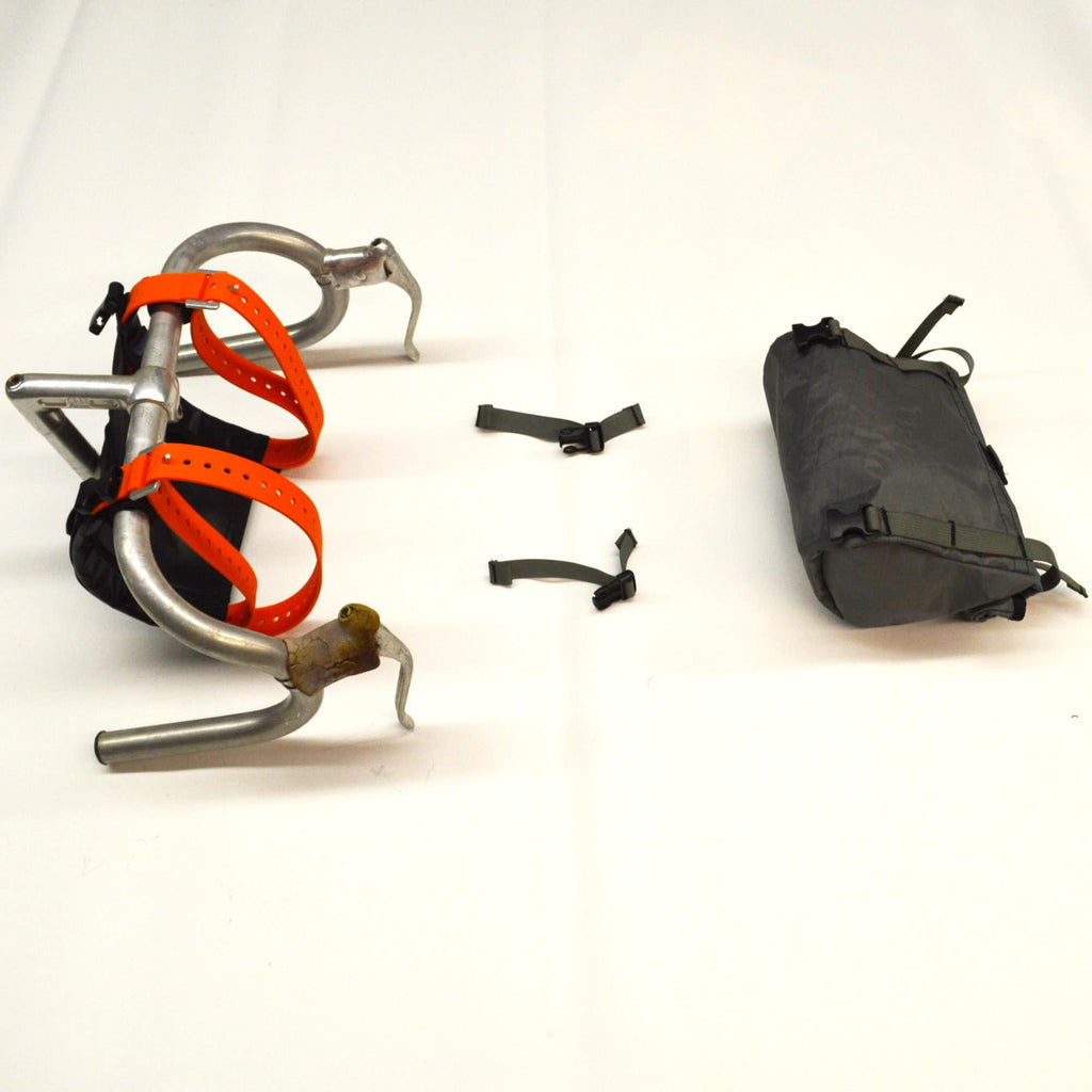 McClure Front Harness attached to handlebars with bag shown separately