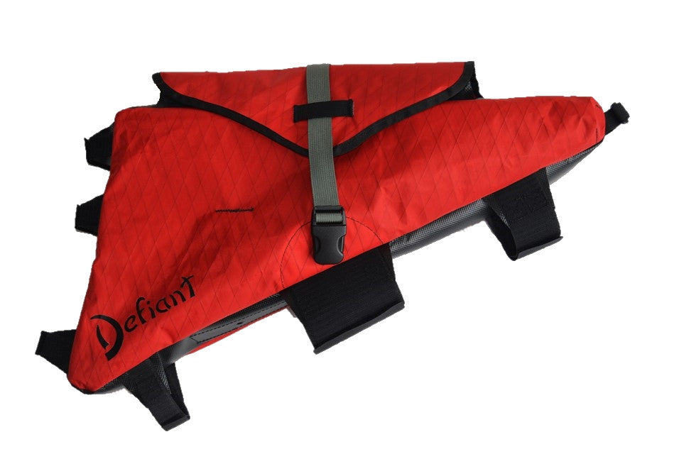 Red Defiant Pack custom frame bag