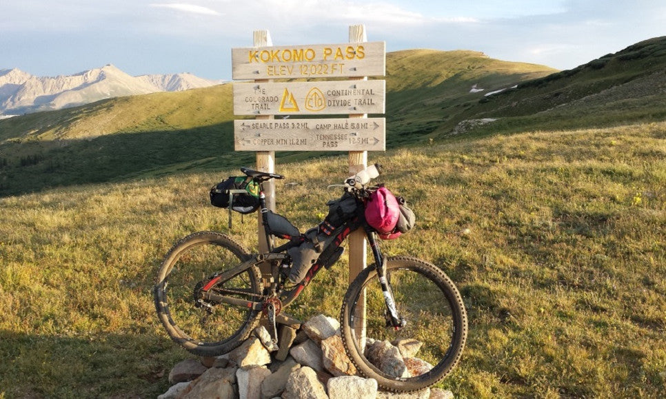 Bike with Defiant Pack gear on the Continental Divide Trail Race