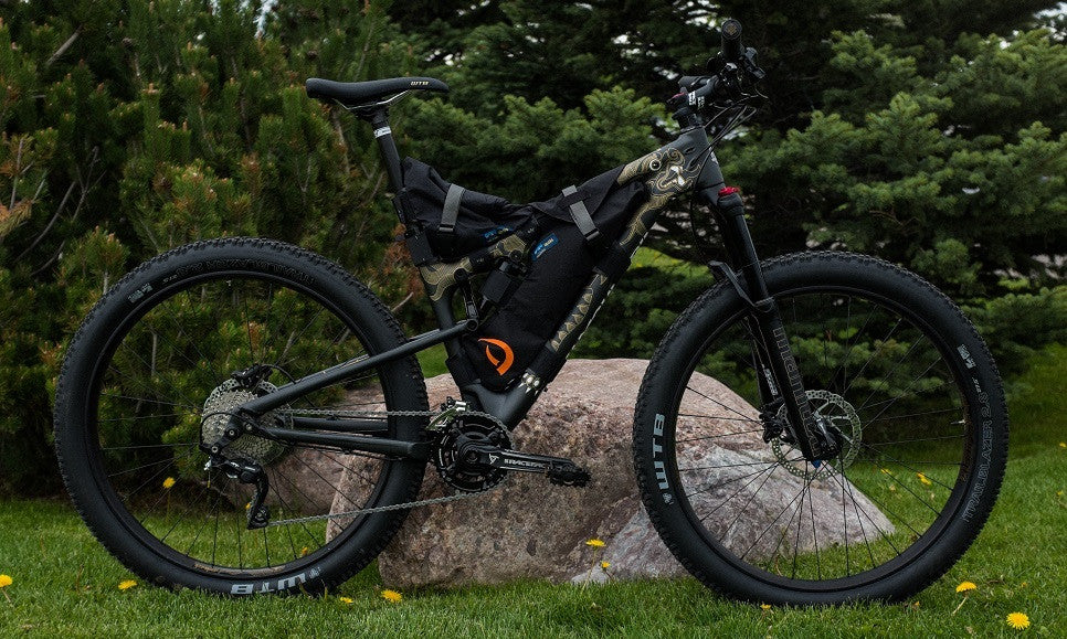 Black Defiant Pack custom frame bag for Rocky Mountain Bicycles - Sherpa