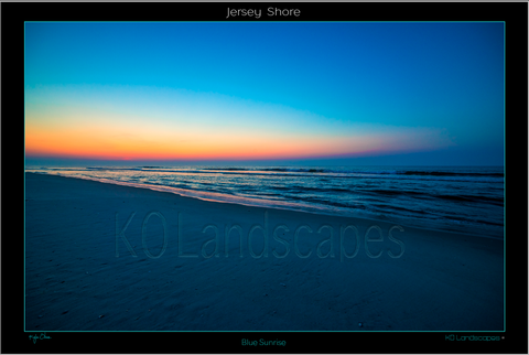 Jersey Shore.. Blue Sunrise, Sand, Beach, Sunrise, Blue, Daybreak, Red, Yellow