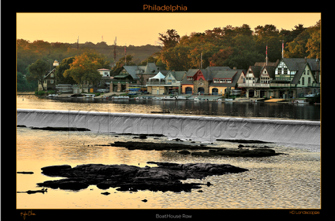 Philadelphia Pa, Boathouse Row, Yellow,  B&W, Blue, Grey, Rocks, Sunset, Sundown, Scull, Scullers, Waterfalls, Autumn