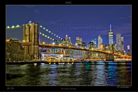 New York, NYC, Manhattan, NYC NY, Brooklyne Bridge, Yellow, Red, Green, Skyline, Troubled Waters, East River, Hudson
