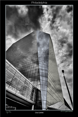 Philadelphia Pa, Museum, Cira Centre, Center,  B&W, Blue, Gray, Brandywine Realty Trust, Clouds, Reflection, Grayscale, 30th Street Station, Amtrack, Ce´sar Pelli