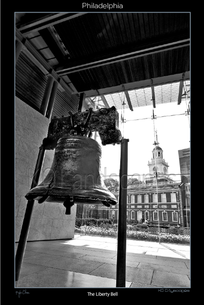 Philadelphia Pa., Landscape, Cityscape, Skyline, City View, fountain, Statue, Restaurant, shopping, Landmark, B&W, Gray, Bricks, Cobblestones, Historical landmark, Liberty Bell, 5th & Chestnut, Museum, 1776, Crack, Ben Franklin