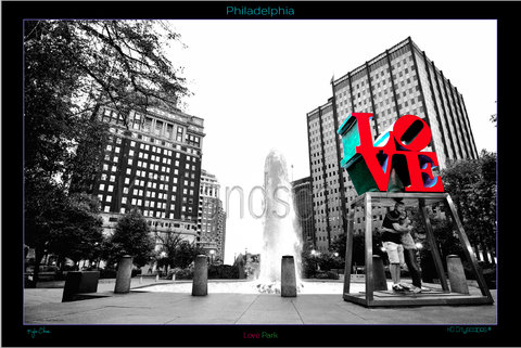 Philadelphia Pa., Cityscape, Logan Circle Fountain, Museum Row, Ben Franklin Parkway Love Park, Sculpter, Statue, water, tint, Love