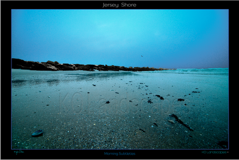 Jersey Shore ..  Morning Subtleties, night, monotone, jetty, Rocks, Seashells, pebbles, morning, mist, fog, Blue, Ocean, Water, , Beach, Path
