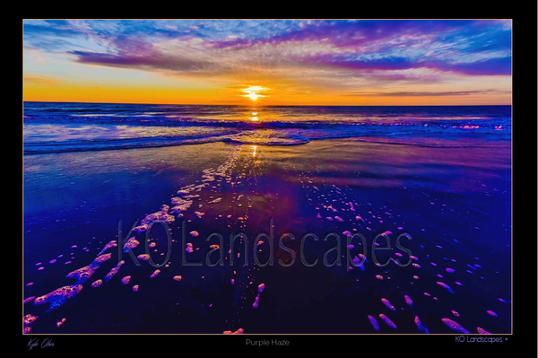 Jersey Shore, Sunrise, Sunset, Orange, Red, yellow, Blue, Purple, Haze Ocean, Water, Beach, Rocks, Seashells
