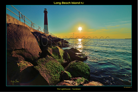Jersey Shore / Lighthouse - Sundown