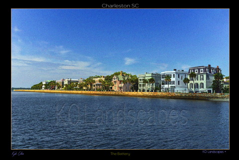 The SouthEast / Arthur Ravnel Jr Bridge, Charleston, South Carolina, Historic, water, sun, Clouds, E Bay Street, E Battery, Edmondston-Alston House, Robert William Roper House, White Point Garden, Blue, Pink, Green, White, Beach, Sand, Yacht