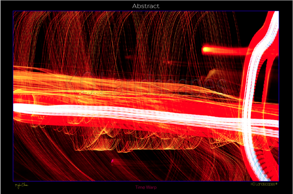 Abstract photo .. Time Warp .. Red Lines