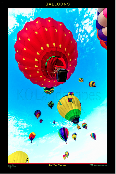 Hot Air Balloons .. To the clouds .. colorful, Red, Yellow, Blue