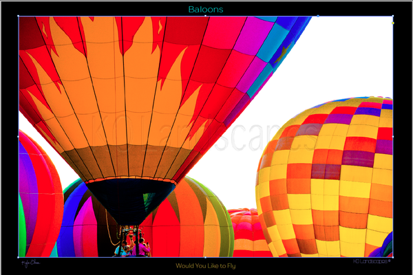 Hot Air Balloons .. Would you like to Fly .. Orange, Red, Pink
