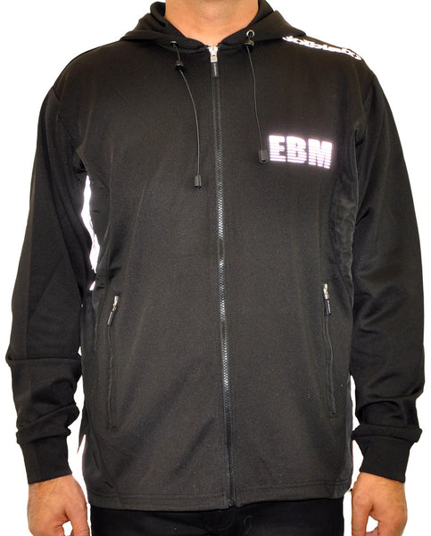 Hooded Full Zip Top - Black