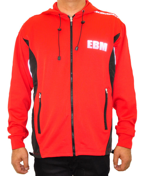 Hooded Full Zip Top - Red