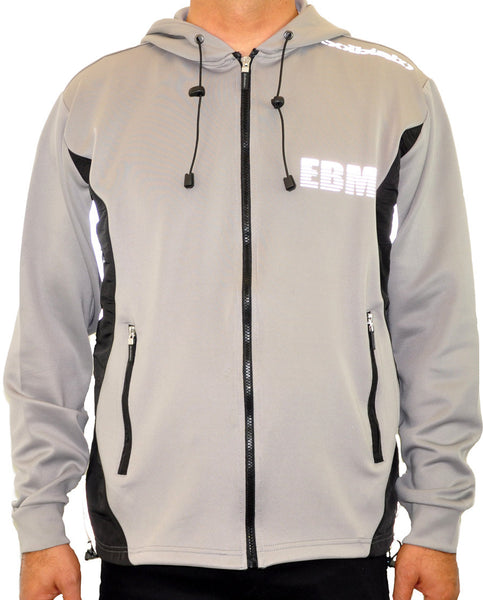 Hooded Full Zip Top - Grey