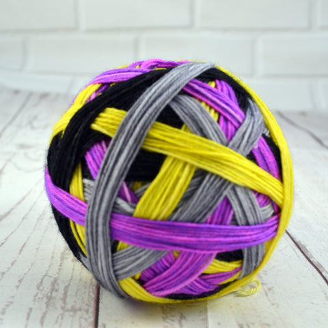 "Stripes-""Electric Avenue "" Self-Striping Sock yarn"