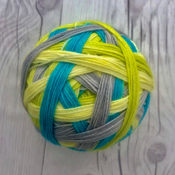 "Stripes- ""Vintage Volkswagens"" Self-Striping Sock yarn"