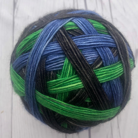 "Stripes- ""Ready Player One"" Self-Striping Sock yarn"