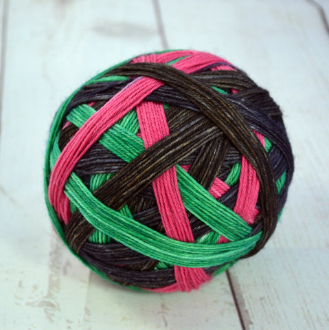 "Stripes-""Ho Ho Ho"" Self-Striping Sock yarn"