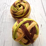 "Stripes!- ""Squashblossoms""- Self-Striping Sock yarn"