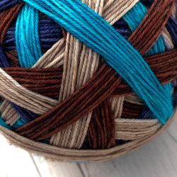 "Stripes!- ""Walkabout""- Self-Striping Sock yarn"