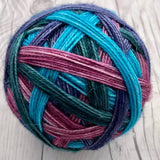 "Stripes!- ""Darting Damselfly"" - Self-Striping Sock yarn"