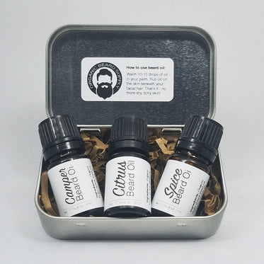 3-in-1 Beard, Scruff, and Shave Oil Travel Kit