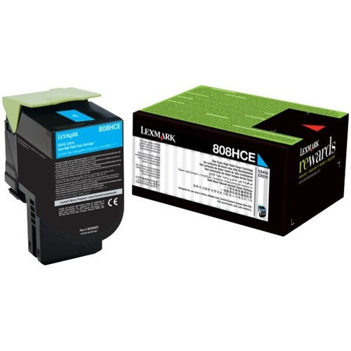 Lexmark 808HC HY Cyan Toner - Out Of Ink