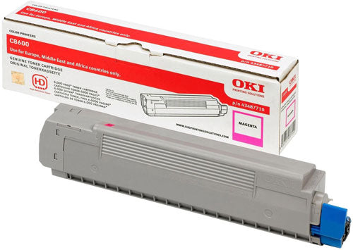 Oki C8600 Magenta Toner Cartridge - 6,000 pages - Out Of Ink