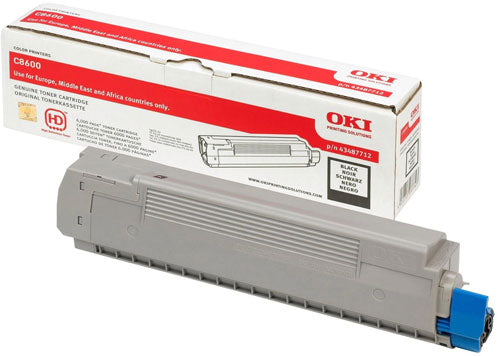 Oki C8600 Black Toner Cartridge - 6,000 pages - Out Of Ink