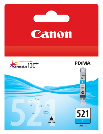 Canon CLI-521C Cyan Ink Tank - 448 pages - Out Of Ink